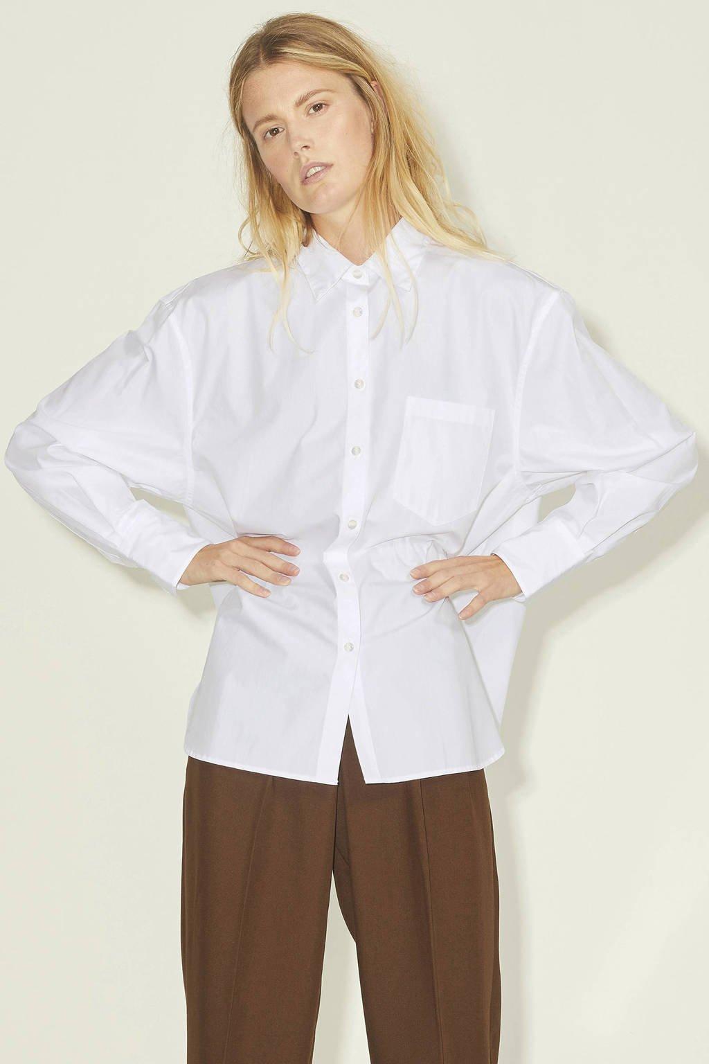 JJXX blouse JXJAMIE met biologisch katoen wit, Wit