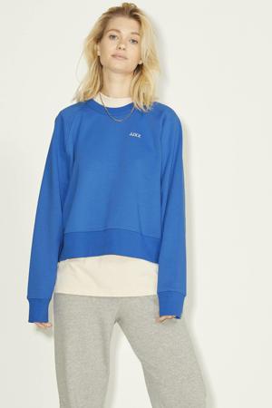 sweater JXCAITLYN van biologisch katoen blauw