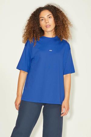 T-shirt JXANDREA met logo blauw