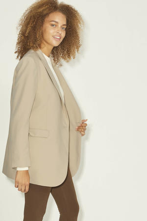blazer JXMARY van gerecycled polyester beige