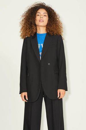blazer JXMARY van gerecycled polyester zwart