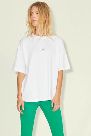 T-shirt JXANDREA met logo wit