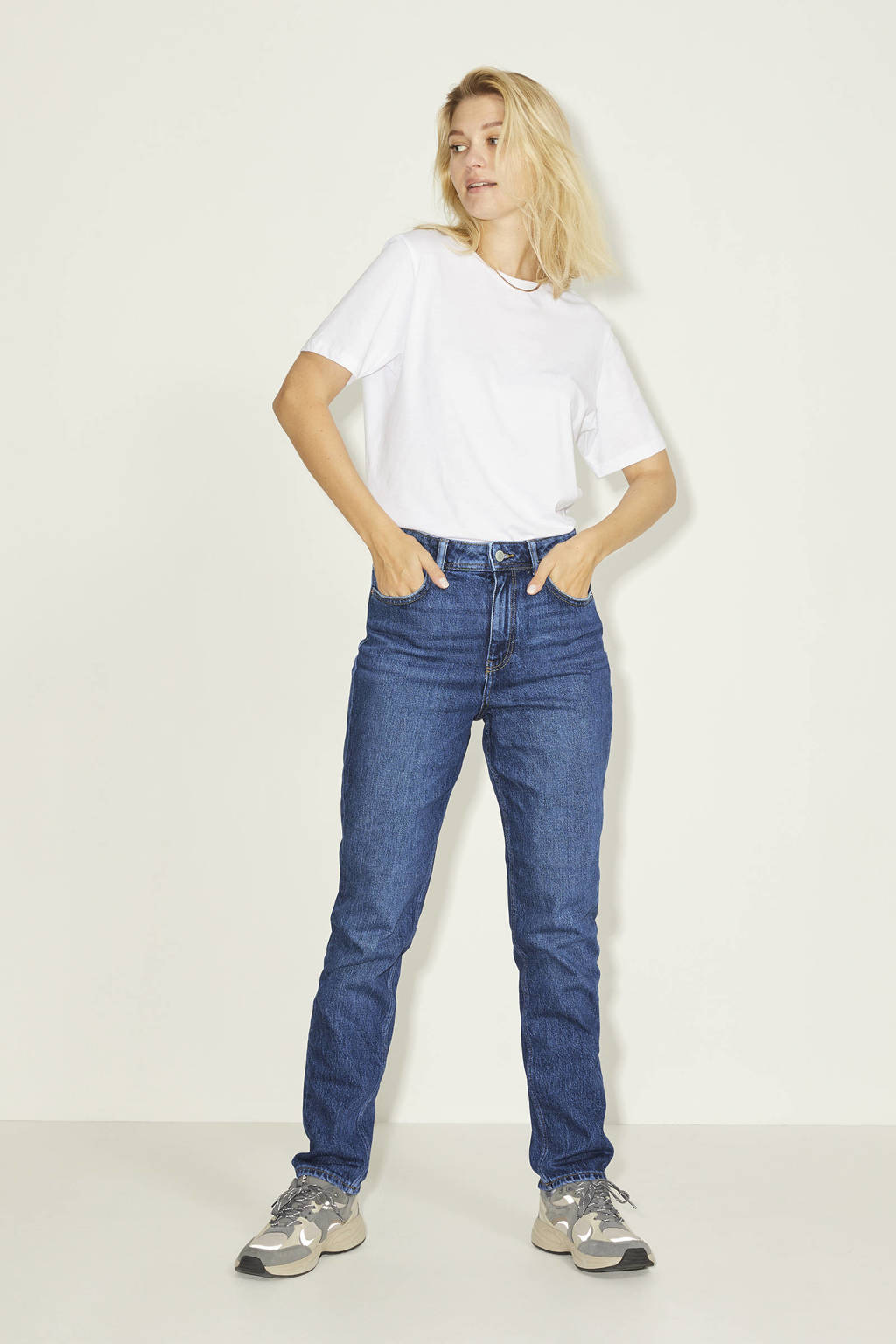 JJXX high waist slim fit jeans JXBERLIN dark blue, Dark Blue