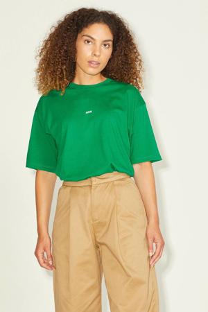 T-shirt JXANDREA met logo groen