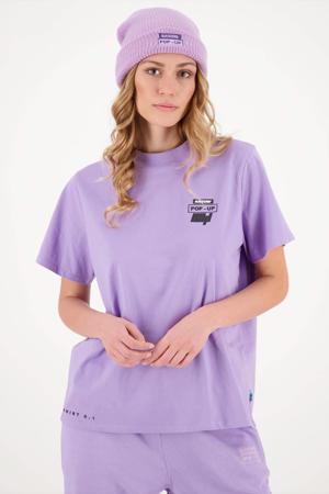 T-shirt HANNAH met logo lila