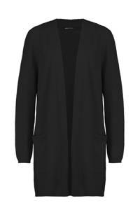 Expresso fijngebreid vest zwart, Zwart