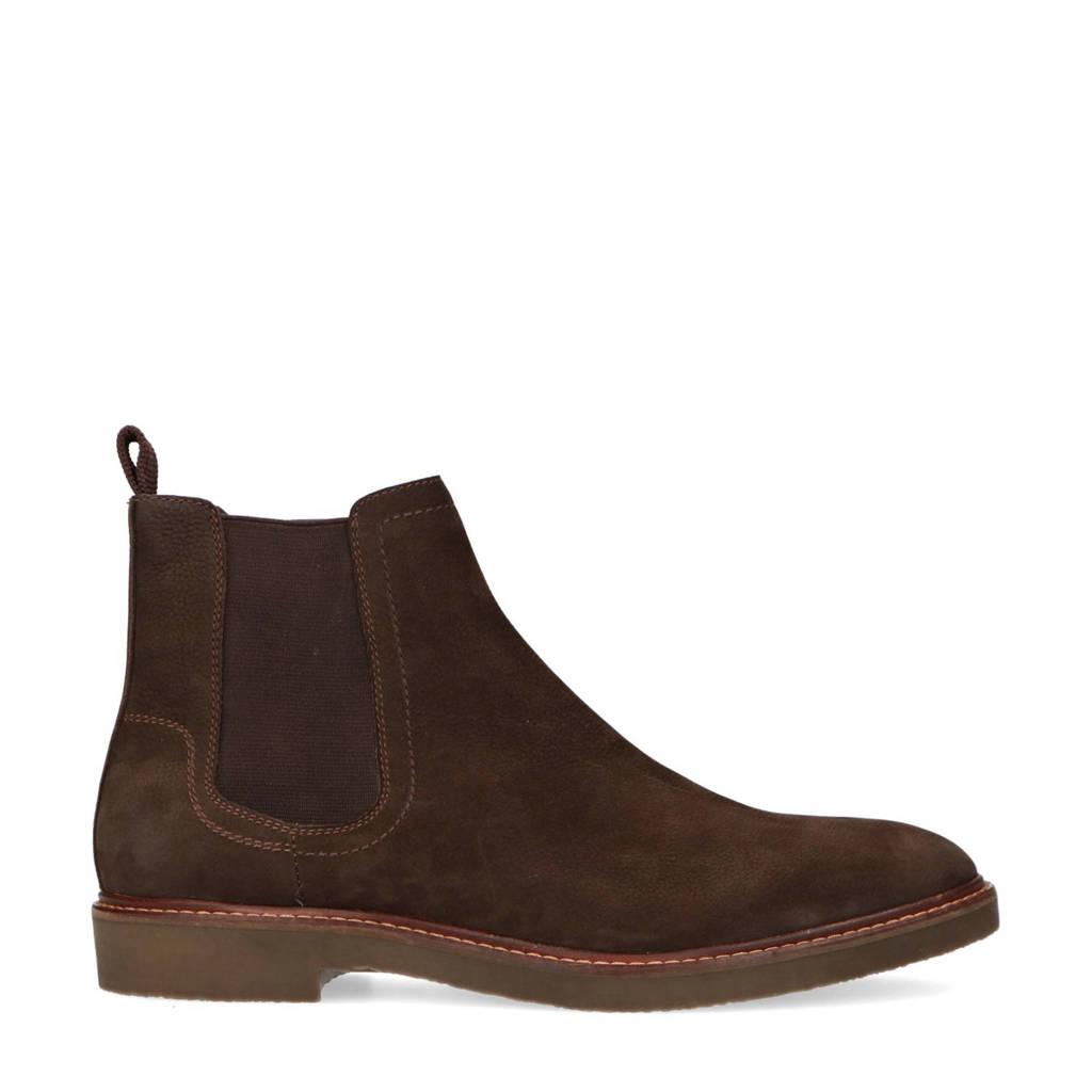 Sacha   nubuck chelsea boots donkerbruin, Donkerbruin