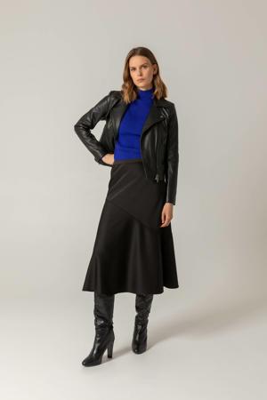 midi rok zwart