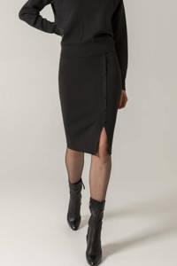 Claudia Sträter fijngebreide rok zwart, Zwart