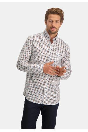 regular fit overhemd met all over print brick red
