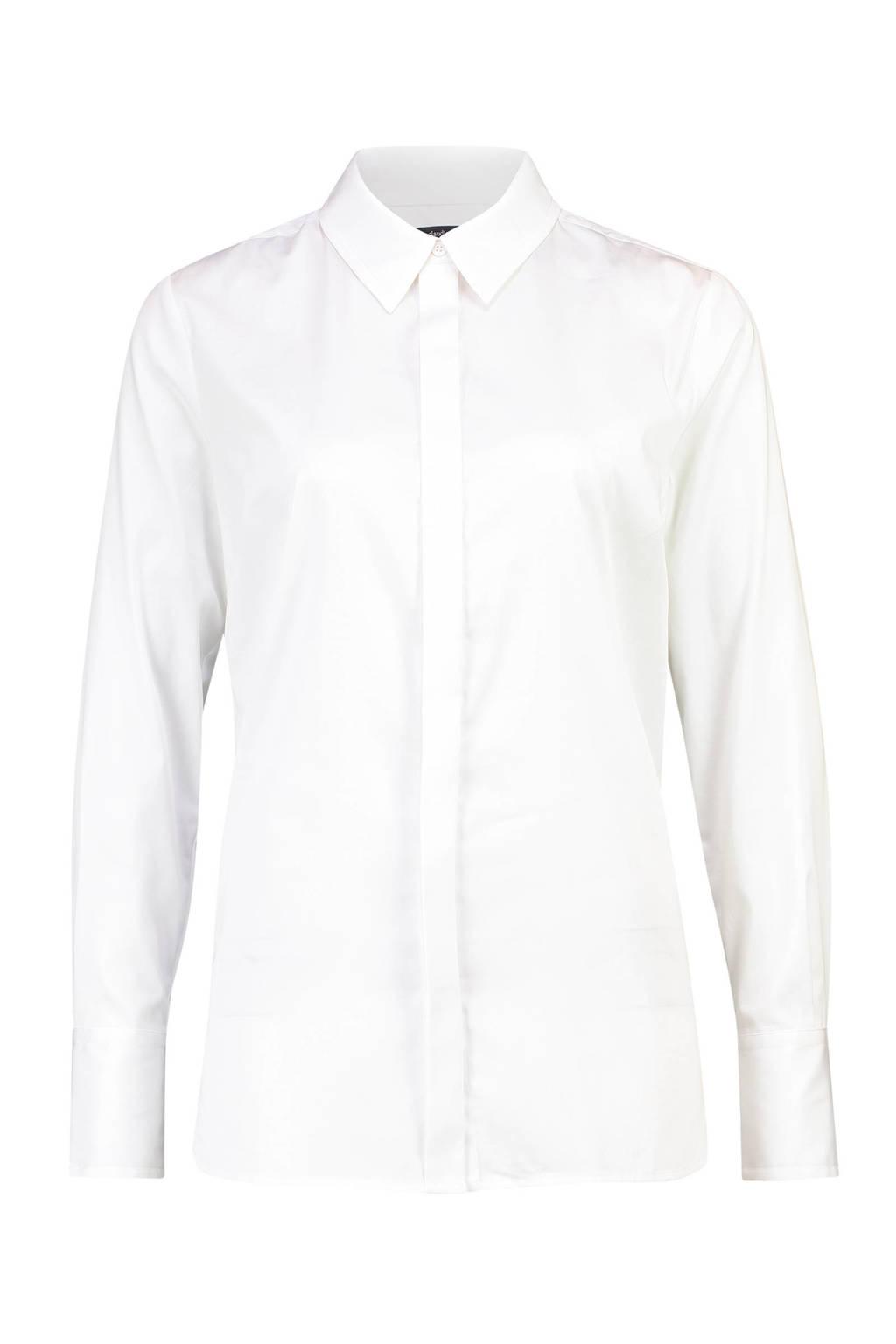 Claudia Sträter blouse Poplin wit, Wit
