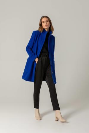 coat met wol blauw
