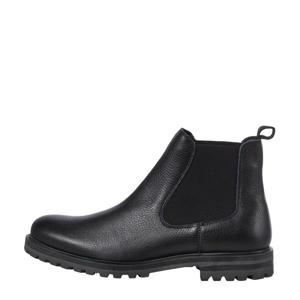 JFWMANNUS  leren chelsea boots zwart