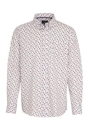 regular fit overhemd wit/roze