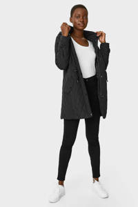 C&A The Outerwear gewatteerde jas zwart, Zwart