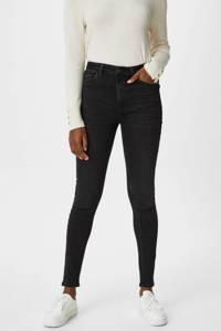 C&A high waist skinny jeans antraciet, Antraciet