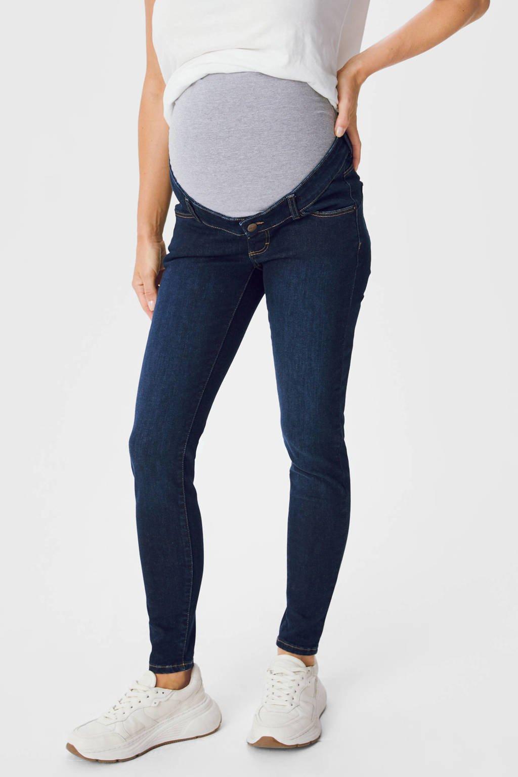 C&A low waist skinny jeans donkerblauw, Donkerblauw