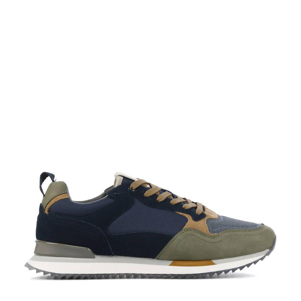 HOFF Copenhagen  leren sneakers blauw/groen, Blauw/groen