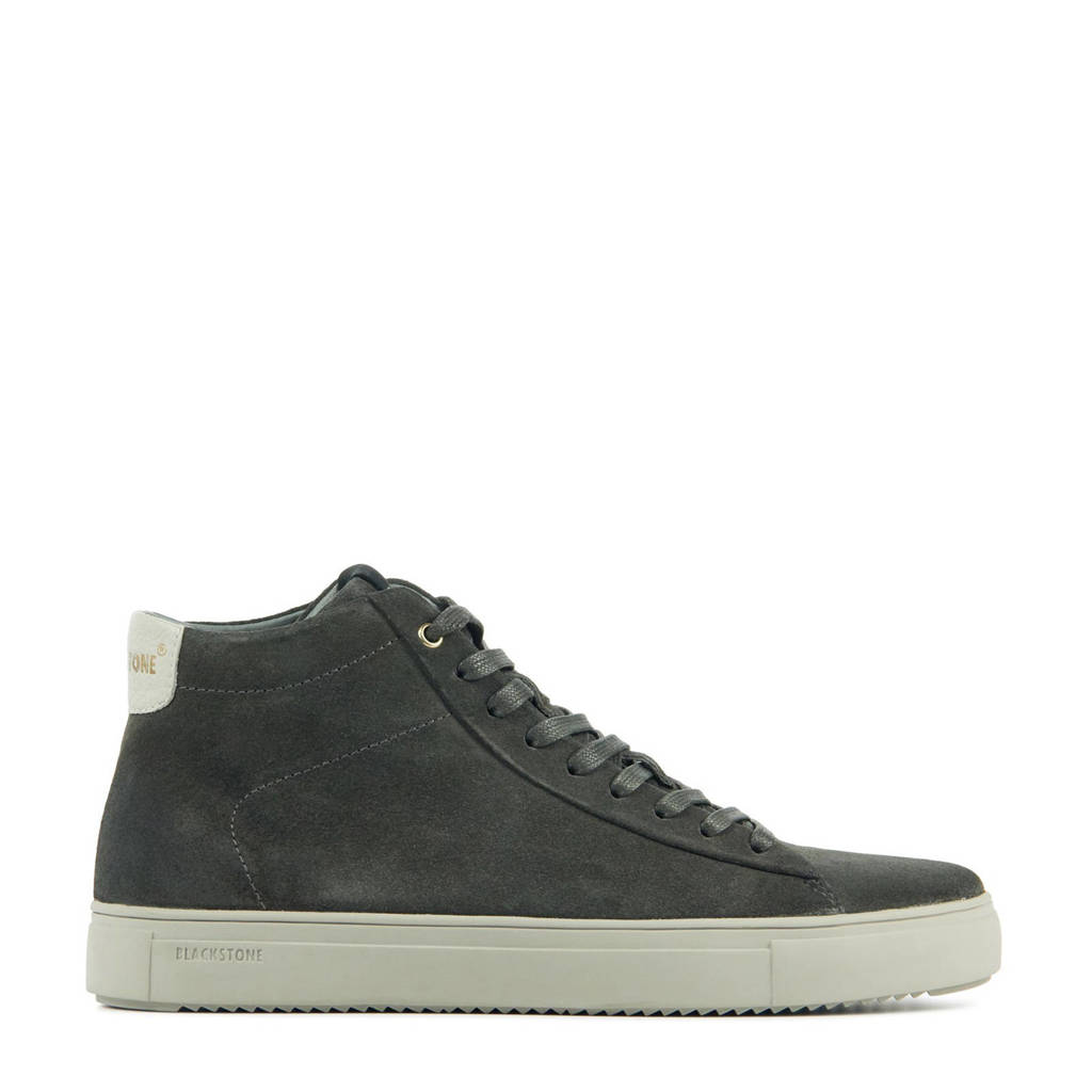 Blackstone VG07  suède sneakers antraciet, Antraciet