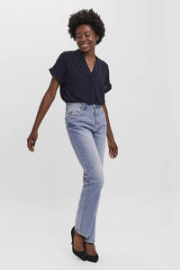 VERO MODA high waist straight fit jeans VMDREW light blue denim, Light blue denim