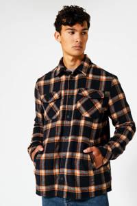 America Today geruit regular fit overhemd Holt  brown/navy, Brown/navy