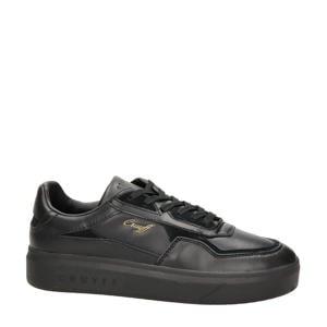 Mosaic  leren sneakers zwart