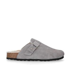 suède pantoffels grijs