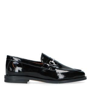 lakleren loafers met chain zwart