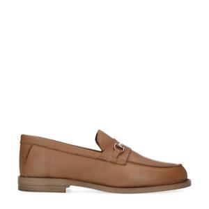 leren loafers met chain bruin