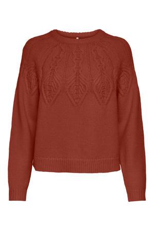 gebreide trui ONLOLLA roodbruin