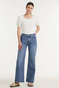 Kings of Indigo high waist flared jeans JANE blue used, Blue used