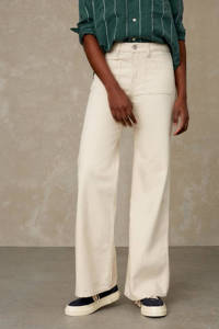 Kings of Indigo high waist flared jeans JANE SAILOR ecru, Ecru