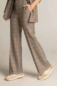 Expresso geruite loose fit pantalon bruin/zwart/wit