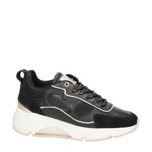 Catalina  suède chunky sneakers zwart
