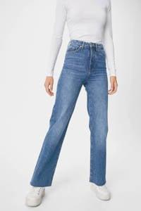 C&A Clockhouse high waist straight fit jeans light denim, Light denim