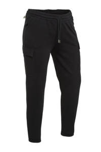 C&A XL Clockhouse slim fit broek zwart, Zwart