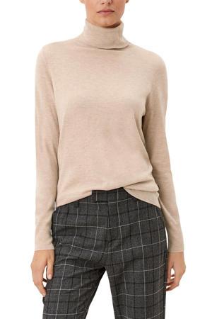 fijngebreide trui met wol beige