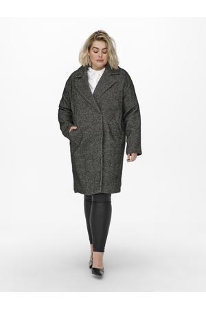 coat CARSOFIA met visgraat zwart/wit