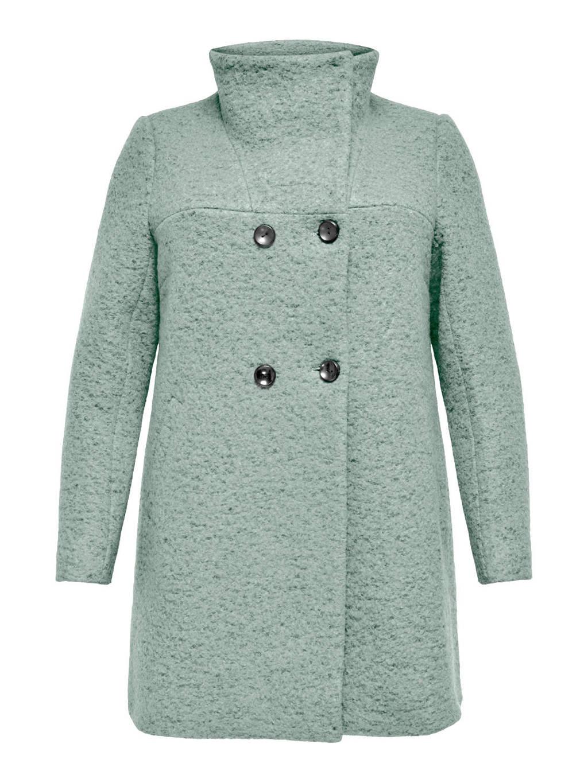 ONLY CARMAKOMA gemêleerde  coat CARNEWSOPHIA lichtgroen, Lichtgroen