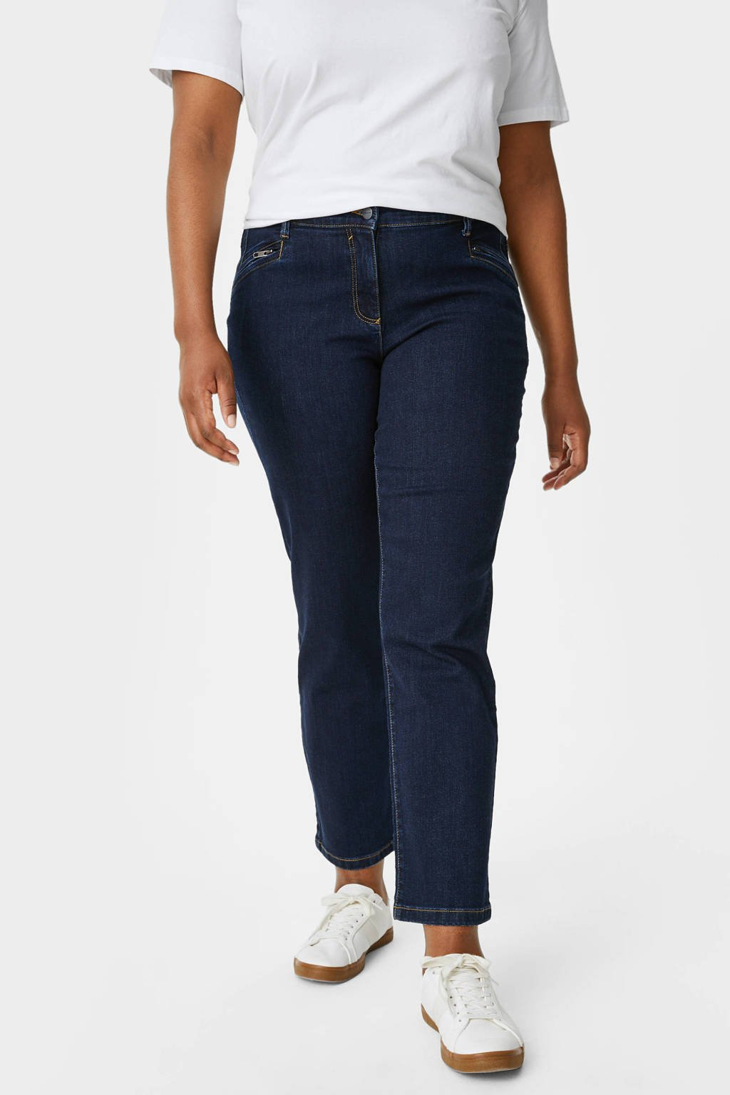 C&A XL straight fit jeans donkerblauw, Donkerblauw