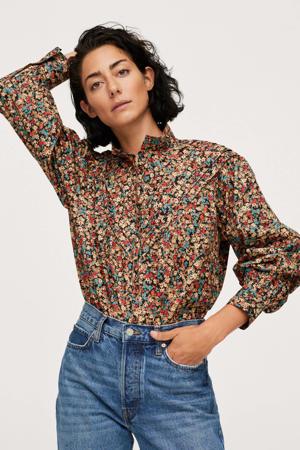 gebloemde blouse multicolor