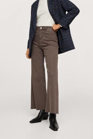 high waist wide leg tregging bruin