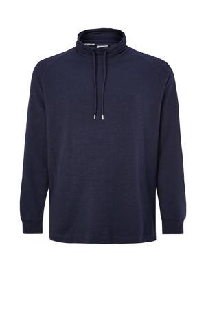 regular fit longsleeve Plus Size donkerblauw