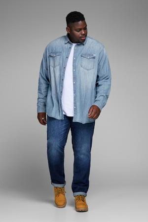 regular fit denim overhemd JJESHERIDAN Plus Size medium blue denim