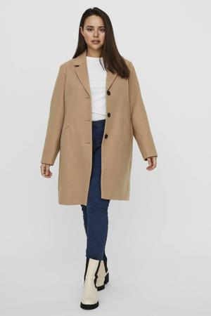 coat VMCALACINDY van gerecycled polyester beige