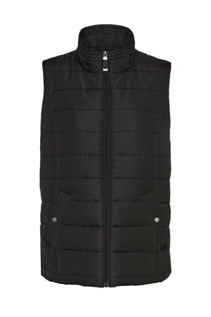 bodywarmer VMSIMO van gerecycled polyester zwart