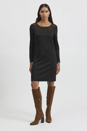 semi-transparante jurk VITINNY van gerecycled polyester zwart