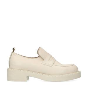 leren loafers off white
