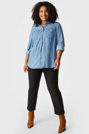 blouse lichtblauw
