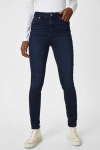 C&A high waist skinny jeans donkerblauw, Donkerblauw